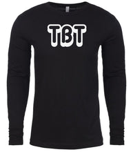 Load image into Gallery viewer, black tbt mens long sleeve shirt