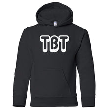 Load image into Gallery viewer, black TBT youth hooded sweatshirts for girls