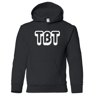 black TBT youth hooded sweatshirts for girls