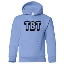 Load image into Gallery viewer, blue TBT youth hooded sweatshirts for girls