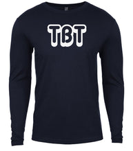 Load image into Gallery viewer, navy tbt mens long sleeve shirt