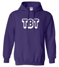Load image into Gallery viewer, purple TBT hooded sweatshirt for women