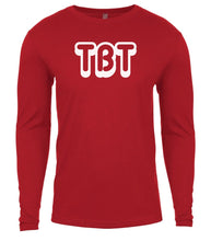 Load image into Gallery viewer, red tbt mens long sleeve shirt