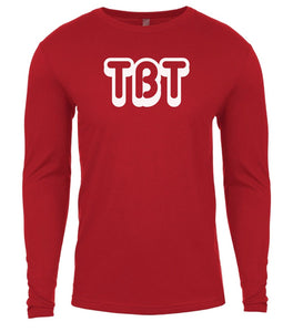 red tbt mens long sleeve shirt