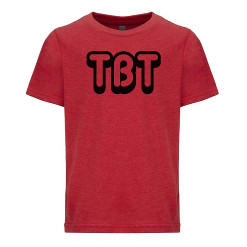 red TBT youth crewneck t shirt for boys
