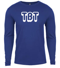 Load image into Gallery viewer, blue tbt mens long sleeve shirt
