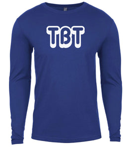 blue tbt mens long sleeve shirt