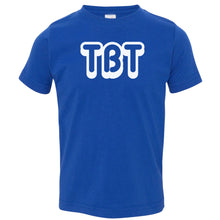 Load image into Gallery viewer, blue TBT crewneck t shirt for toddlers