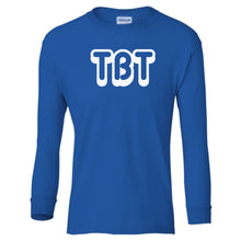 Load image into Gallery viewer, blue TBT youth long sleeve t shirt for boys