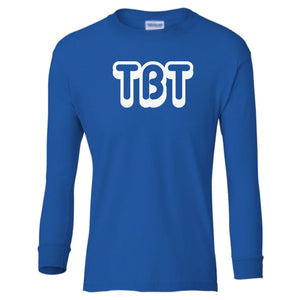 blue TBT youth long sleeve t shirt for boys
