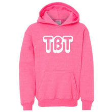 Load image into Gallery viewer, pink TBT youth hooded sweatshirts for girls