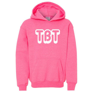 pink TBT youth hooded sweatshirts for girls