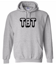 Load image into Gallery viewer, grey TBT hooded sweatshirt for women