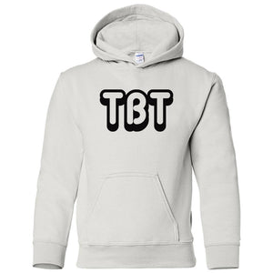 white TBT youth hooded sweatshirts for girls