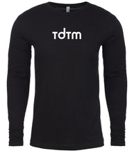 Load image into Gallery viewer, black tdtm mens long sleeve shirt