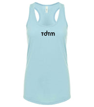 Load image into Gallery viewer, blue TDTM racerback tank top for women