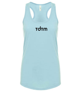 blue TDTM racerback tank top for women