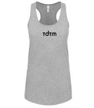 Load image into Gallery viewer, grey TDTM racerback tank top for women