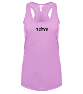 pink TDTM racerback tank top for women