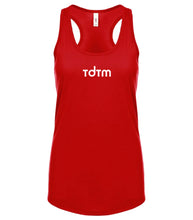 Load image into Gallery viewer, red TDTM racerback tank top for women