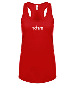 red TDTM racerback tank top for women