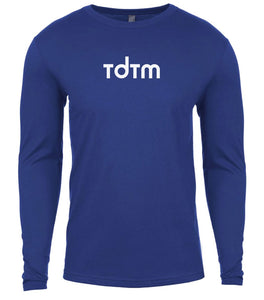 blue tdtm mens long sleeve shirt