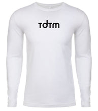 Load image into Gallery viewer, white tdtm mens long sleeve shirt