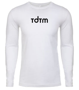 white tdtm mens long sleeve shirt