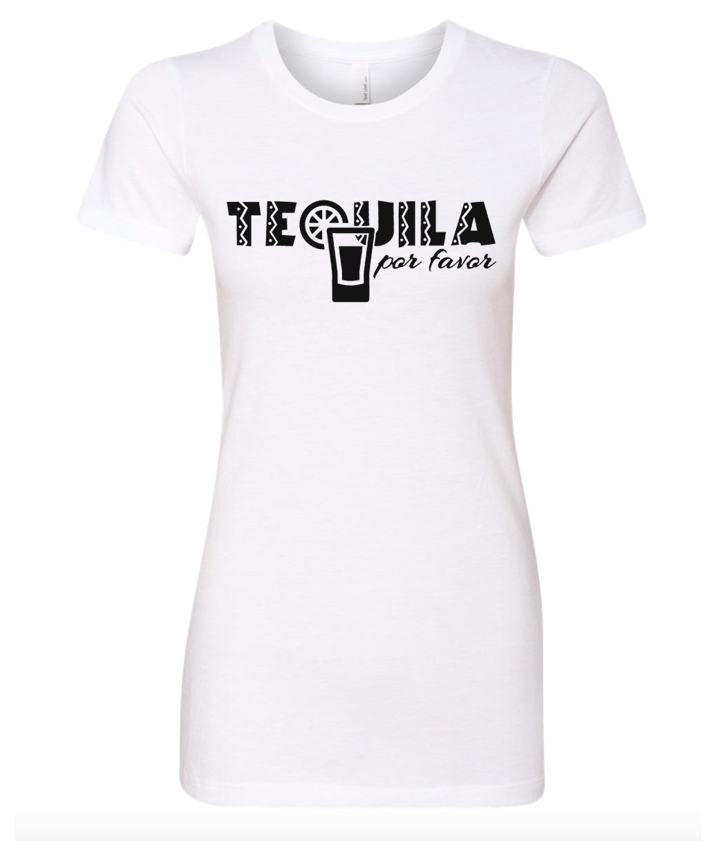 tequila por favor women's t-shirt