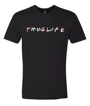 Load image into Gallery viewer, black thug life crewneck t shirt