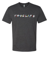 Load image into Gallery viewer, charcoal thug life crewneck t shirt