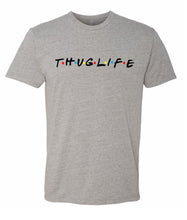 Load image into Gallery viewer, grey thug life crewneck t shirt