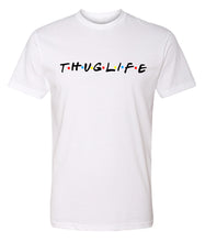 Load image into Gallery viewer, white thug life crewneck t shirt