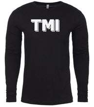 Load image into Gallery viewer, black tmi mens long sleeve shirt