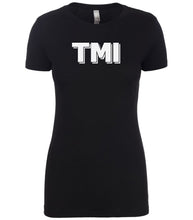 Load image into Gallery viewer, black tmi women crewneck t shirt
