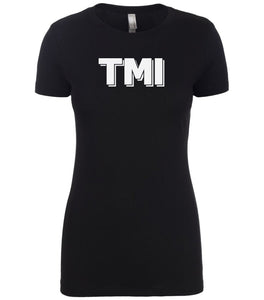 black tmi women crewneck t shirt