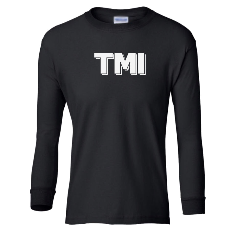 black TMI youth long sleeve t shirt for girls