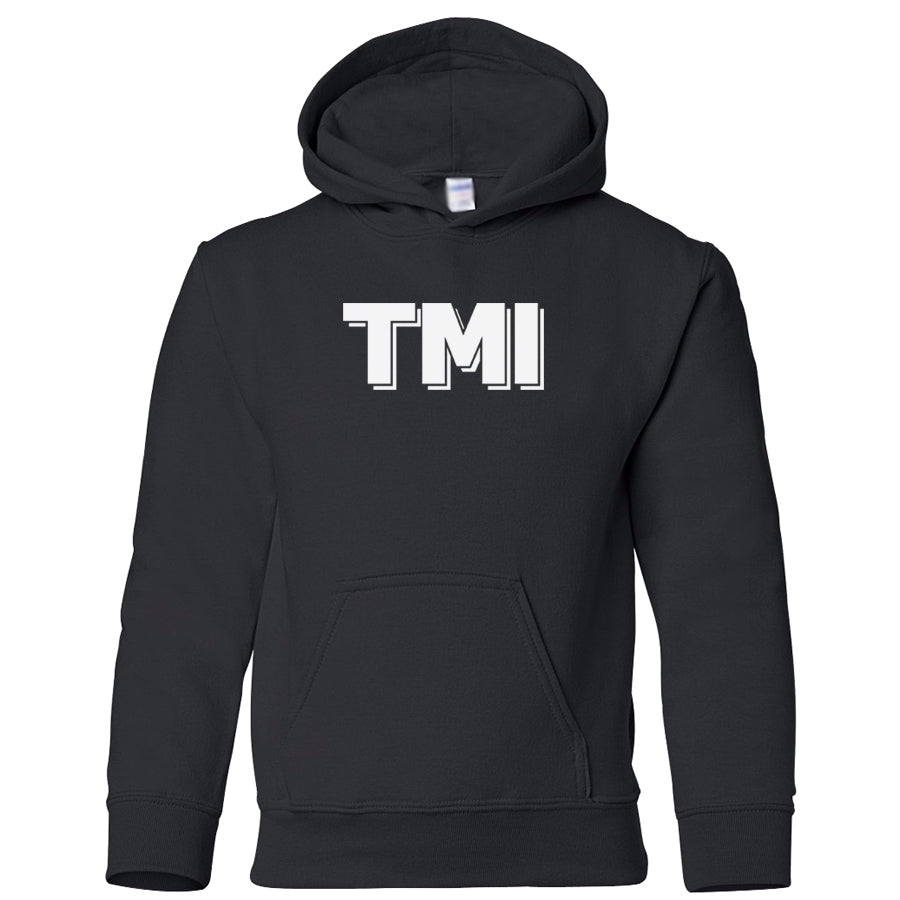 black TMI youth hooded sweatshirts for girls