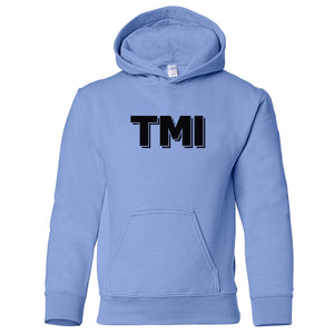 blue TMI youth hooded sweatshirts for girls