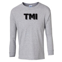 Load image into Gallery viewer, grey TMI youth long sleeve t shirt for girls