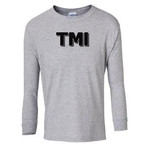 grey TMI youth long sleeve t shirt for girls