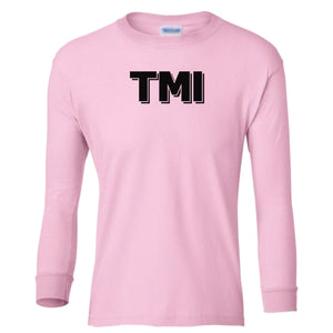 pink TMI youth long sleeve t shirt for girls