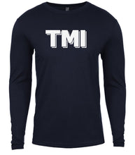 Load image into Gallery viewer, navy tmi mens long sleeve shirt