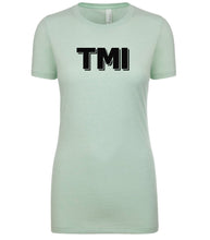 Load image into Gallery viewer, mint TMI womens crewneck t shirt