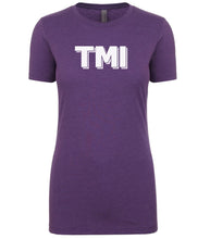 Load image into Gallery viewer, purple TMI womens crewneck t shirt