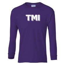 Load image into Gallery viewer, purple TMI youth long sleeve t shirt for girls