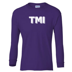 purple TMI youth long sleeve t shirt for girls