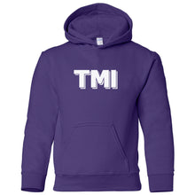 Load image into Gallery viewer, purple TMI youth hooded sweatshirts for girls