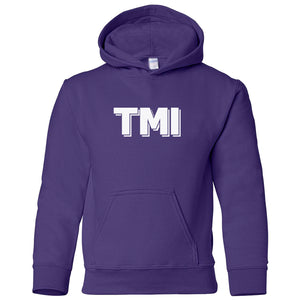 purple TMI youth hooded sweatshirts for girls