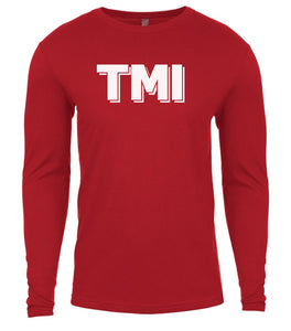 red tmi mens long sleeve shirt